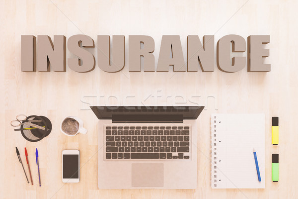 Insurance text concept Stock photo © Mazirama