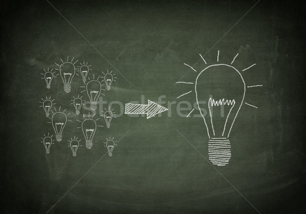 Blackboard good ideas Stock photo © Mazirama