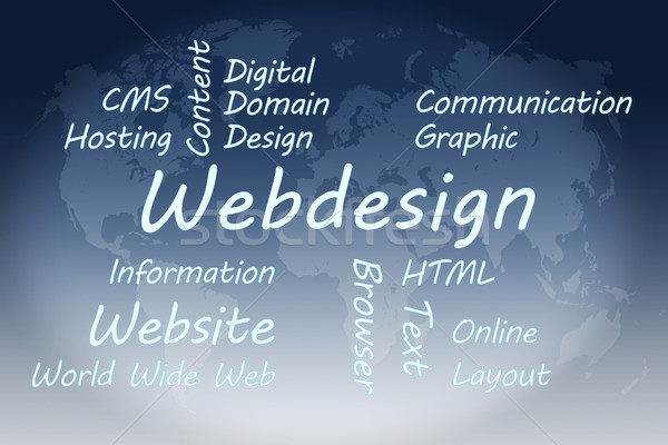 веб-дизайн иллюстрация синий Мир карта аннотация Сток-фото © Mazirama