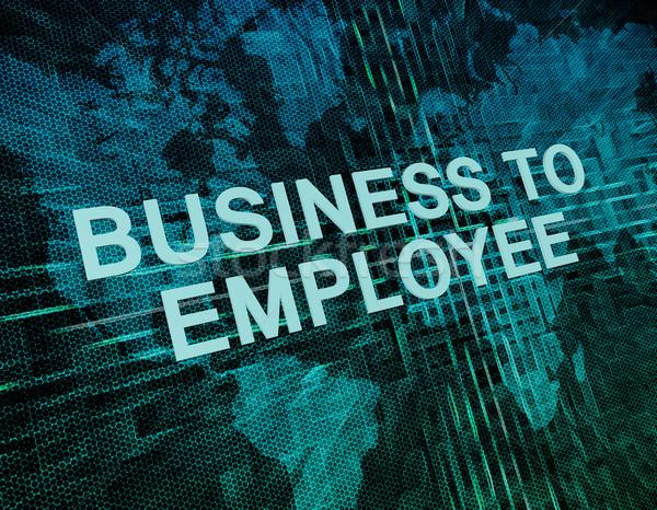 üzlet alkalmazott szöveg zöld digitális világtérkép Stock fotó © Mazirama