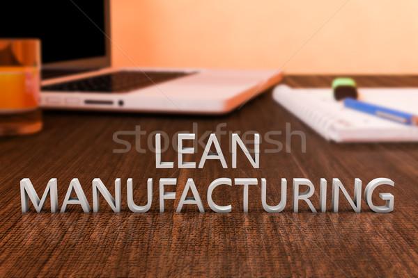 Foto stock: Fabrico · cartas · secretária · computador · portátil · caderno