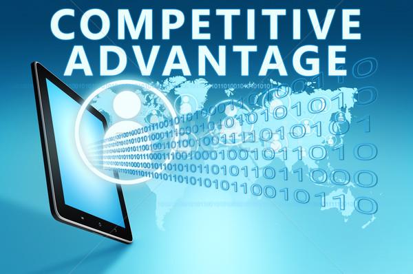 Competitivo ventaja ilustración azul negocios Foto stock © Mazirama