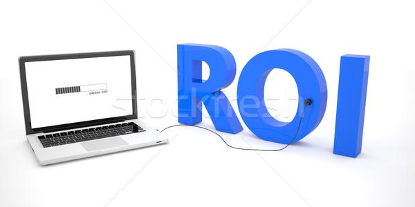 Visszatérés beruházás roi laptop notebook számítógép Stock fotó © Mazirama