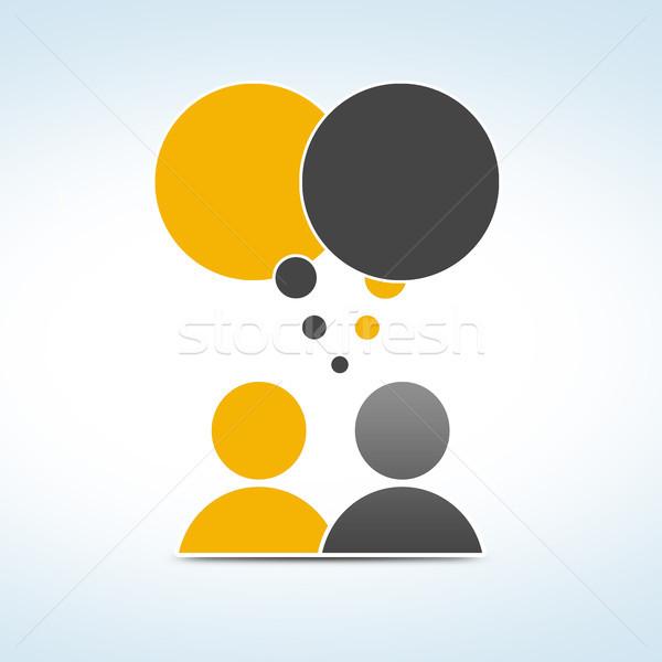 Conversa pessoas menina reunião Foto stock © Mazirama