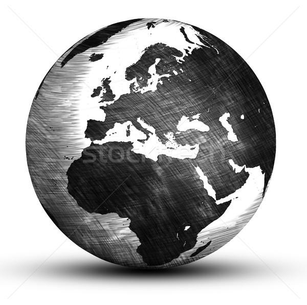 Dünya dünya el çizim Avrupa yalıtılmış Stok fotoğraf © Mazirama