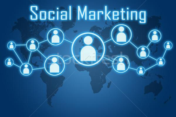 social marketing concept Stock photo © Mazirama