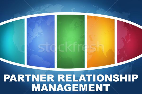 Socio relación gestión texto ilustración azul Foto stock © Mazirama
