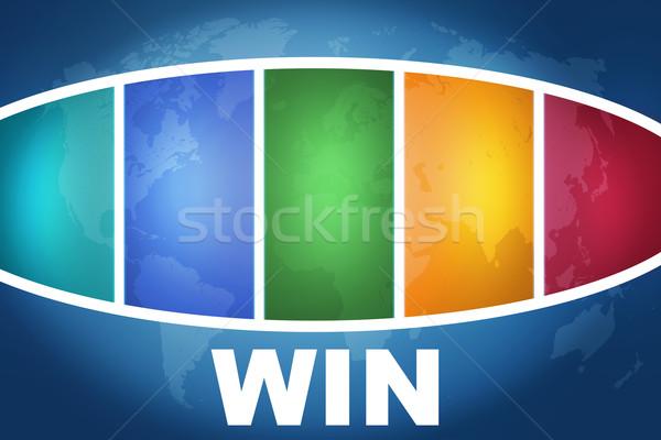 Win concept Stock photo © Mazirama