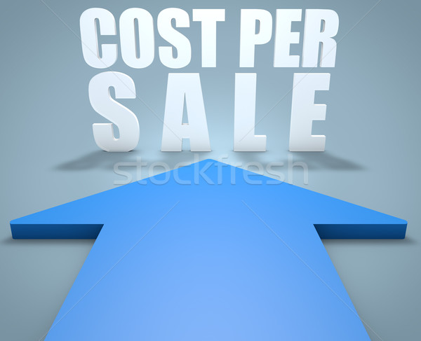 Custo por venda 3d render azul seta Foto stock © Mazirama