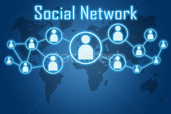 social network concept Stock photo © Mazirama