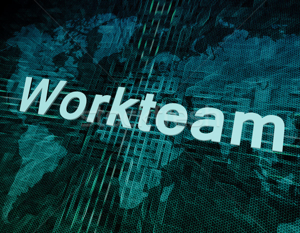 Workteam Stock photo © Mazirama