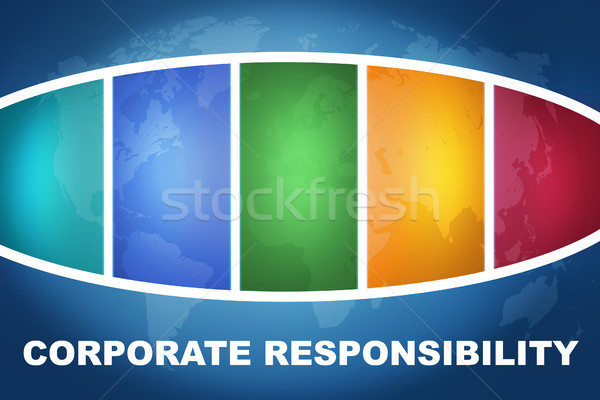 Corporate responsabilità testo illustrazione blu colorato Foto d'archivio © Mazirama