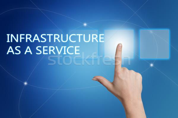 Foto d'archivio: Infrastrutture · servizio · mano · pulsante · interfaccia