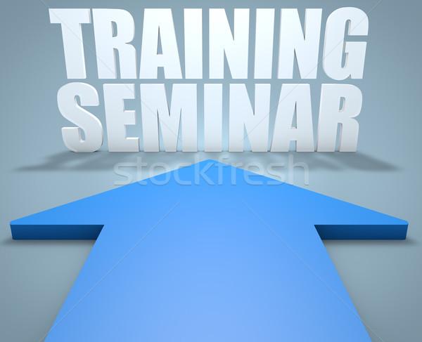 訓練 セミナー 3dのレンダリング 青 矢印 ポインティング ストックフォト © Mazirama