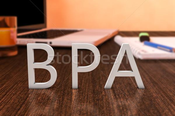 Iş süreç analiz harfler ahşap büro Stok fotoğraf © Mazirama