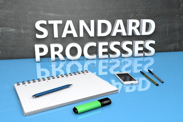 Stock photo: Standard Processes text concept