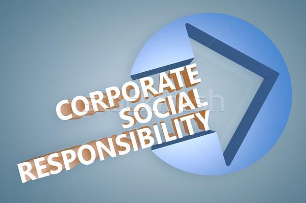 Empresarial social responsabilidad texto 3d ilustración Foto stock © Mazirama