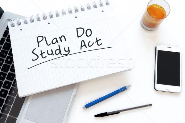 плана исследование Закон текста ноутбук Сток-фото © Mazirama
