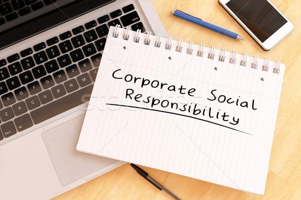 корпоративного социальной ответственность текста ноутбук Сток-фото © Mazirama