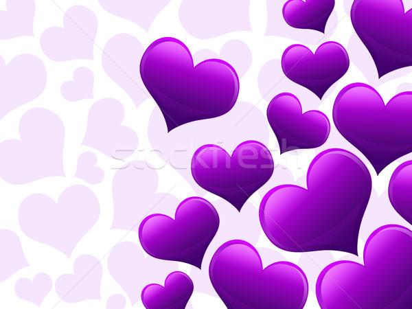 バレンタインデー カード 心 紫色 テクスチャ ストックフォト © Mazirama
