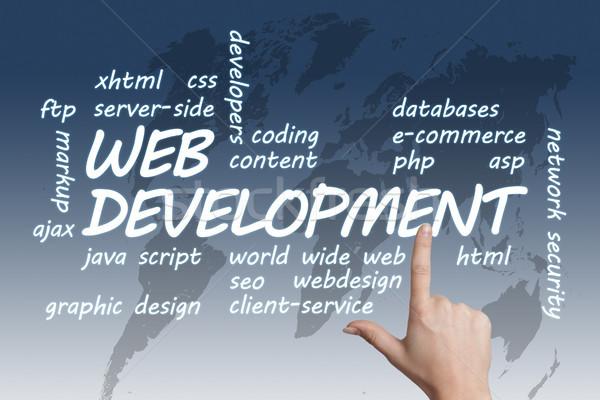 Web gelişme örnek dünya haritası çalışmak alışveriş Stok fotoğraf © Mazirama
