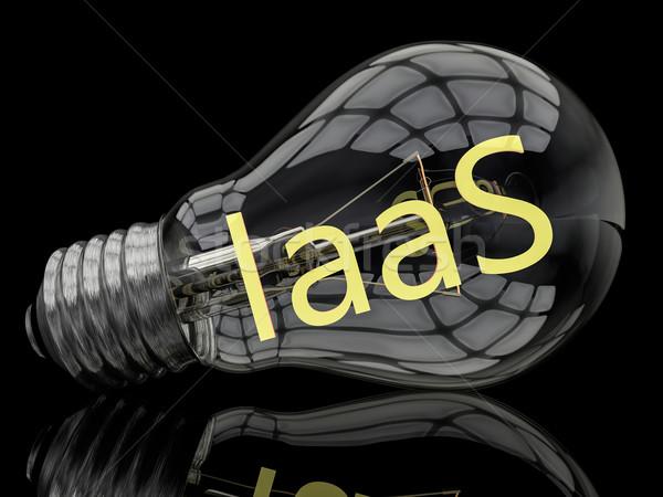 Infrastrutture servizio lampadina nero testo rendering 3d Foto d'archivio © Mazirama