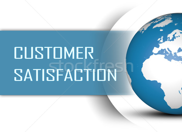 Satisfação do cliente globo branco negócio mercado sucesso Foto stock © Mazirama
