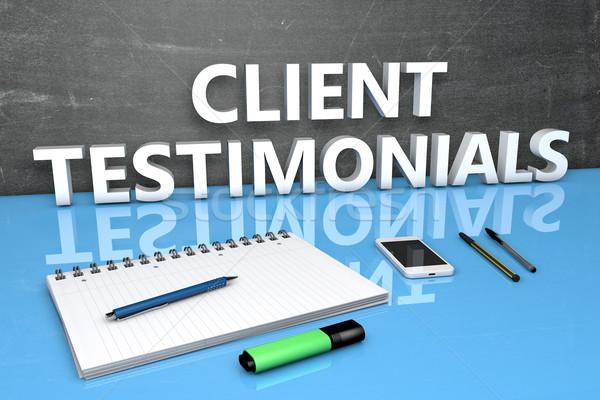 Client Testimonials text concept Stock photo © Mazirama