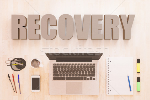 Stock photo: Recovery text concept