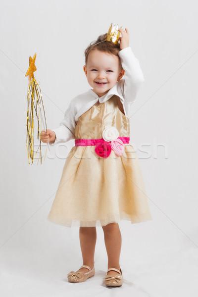 Hercegnő portré boldog mosolyog nevet kicsi Stock fotó © Mazirama