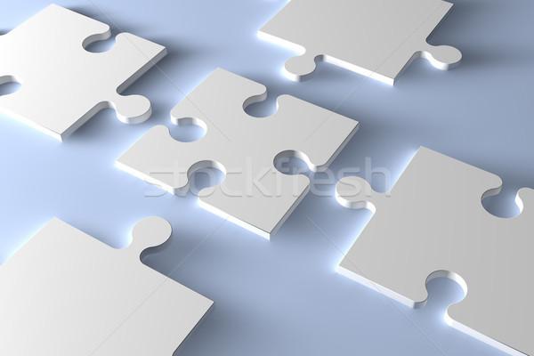 Bilmece parça 3D parçalar bilgisayar Stok fotoğraf © Mazirama