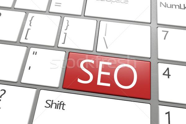 Seo ウェブ 開発 コンピュータのキーボード 言葉 ビジネス ストックフォト © Mazirama