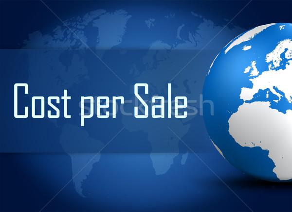 Maliyet satış dünya mavi iş Stok fotoğraf © Mazirama