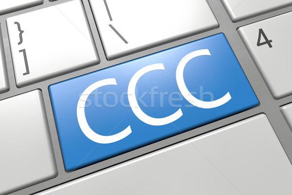 センター キーボード 3dのレンダリング 実例 言葉 ストックフォト © Mazirama