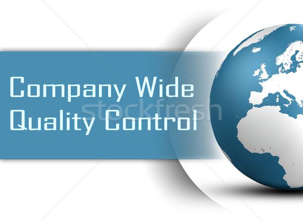 Bedrijf breed kwaliteitscontrole wereldbol witte business Stockfoto © Mazirama