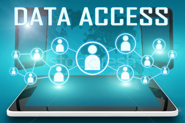 Datos acceso texto ilustración social iconos Foto stock © Mazirama