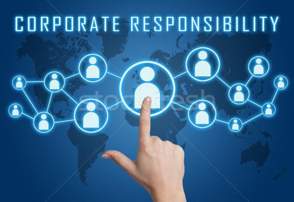 Empresarial responsabilidad mano social iconos Foto stock © Mazirama