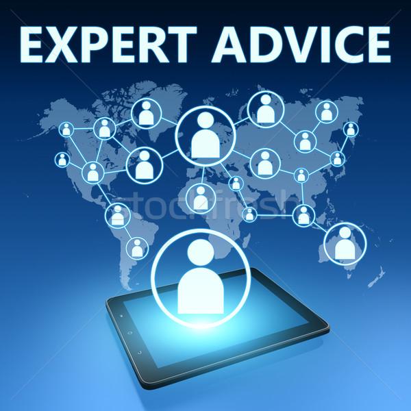 Expert advies illustratie Blauw business Stockfoto © Mazirama