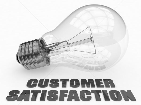 Satisfacción del cliente bombilla blanco texto 3d ilustración Foto stock © Mazirama