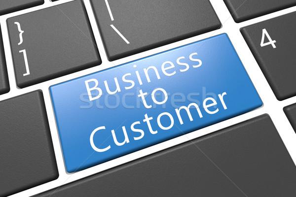 Iş müşteri klavye 3d render örnek kelime Stok fotoğraf © Mazirama