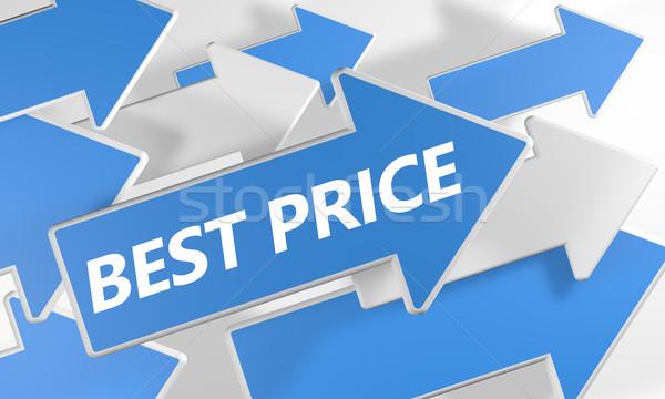 Legjobb ár 3d render kék fehér nyilak repülés Stock fotó © Mazirama