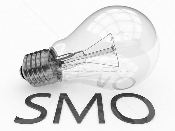 Medios de comunicación social optimización bombilla blanco texto 3d Foto stock © Mazirama
