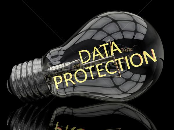 データ保護 電球 黒 文字 3dのレンダリング 実例 ストックフォト © Mazirama