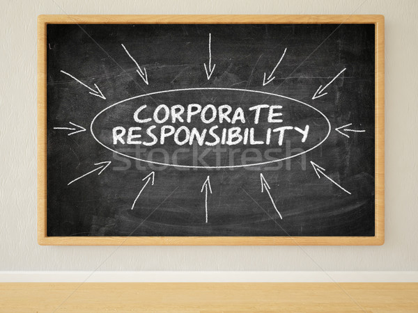 Entreprise responsabilité rendu 3d illustration texte noir Photo stock © Mazirama
