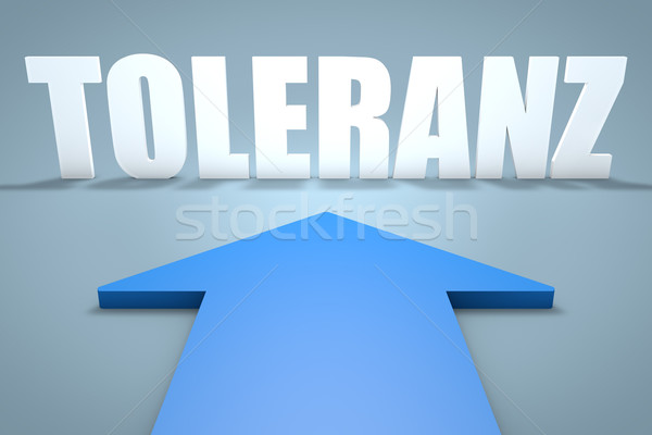 Palabra tolerancia 3d azul flecha senalando Foto stock © Mazirama