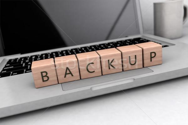 Backup text concept Stock photo © Mazirama