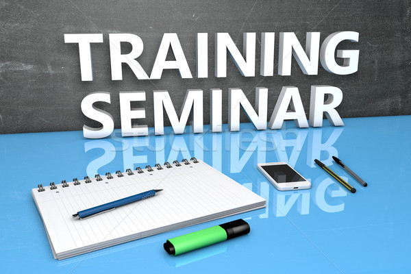 Training Seminar text concept Stock photo © Mazirama