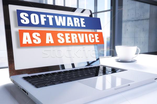Stock fotó: Szoftver · szolgáltatás · szöveg · modern · laptop · képernyő