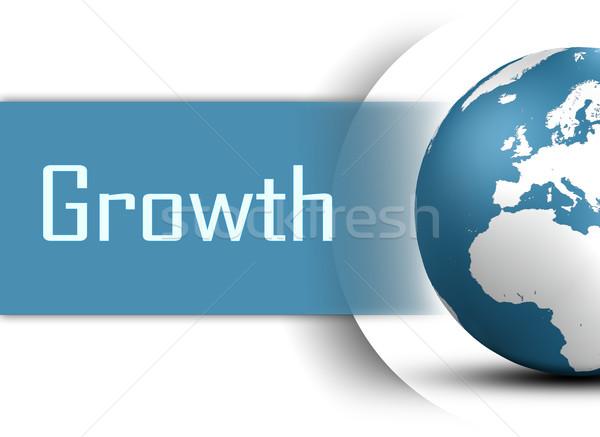 Büyüme dünya beyaz çalışmak imzalamak başarı Stok fotoğraf © Mazirama