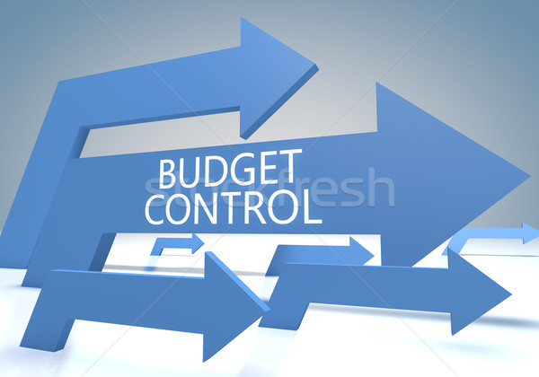 бюджет контроль оказывать синий Стрелки бизнеса Сток-фото © Mazirama